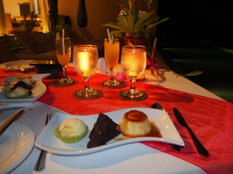 desert - lava cake, pudding and something good (forgot the name)